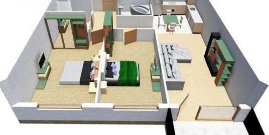 17.Apartament de vanzare, 3 camere, semifinisat, Dambul Rotund