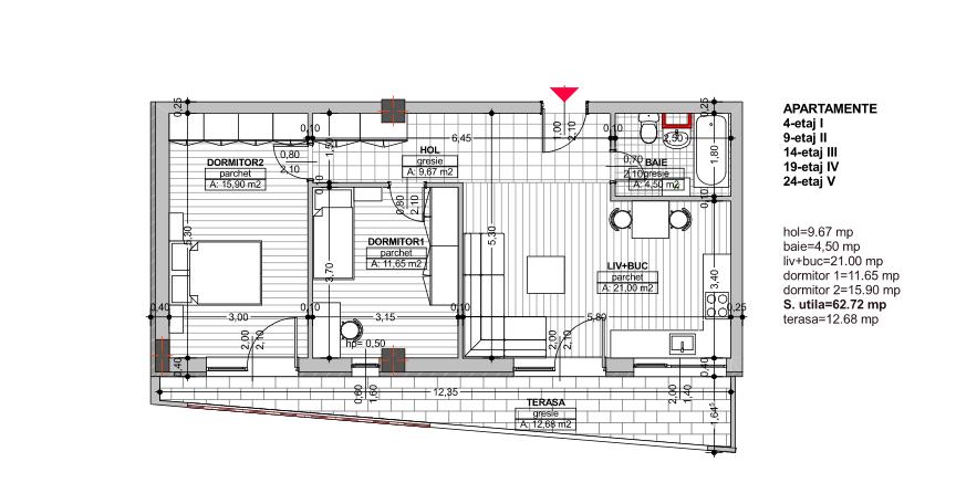 9.Vanzare apartament in bloc nou, 3 camere, Marasti, Cluj-Napoca