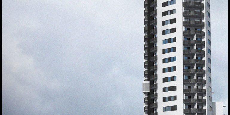 fatada west city tower