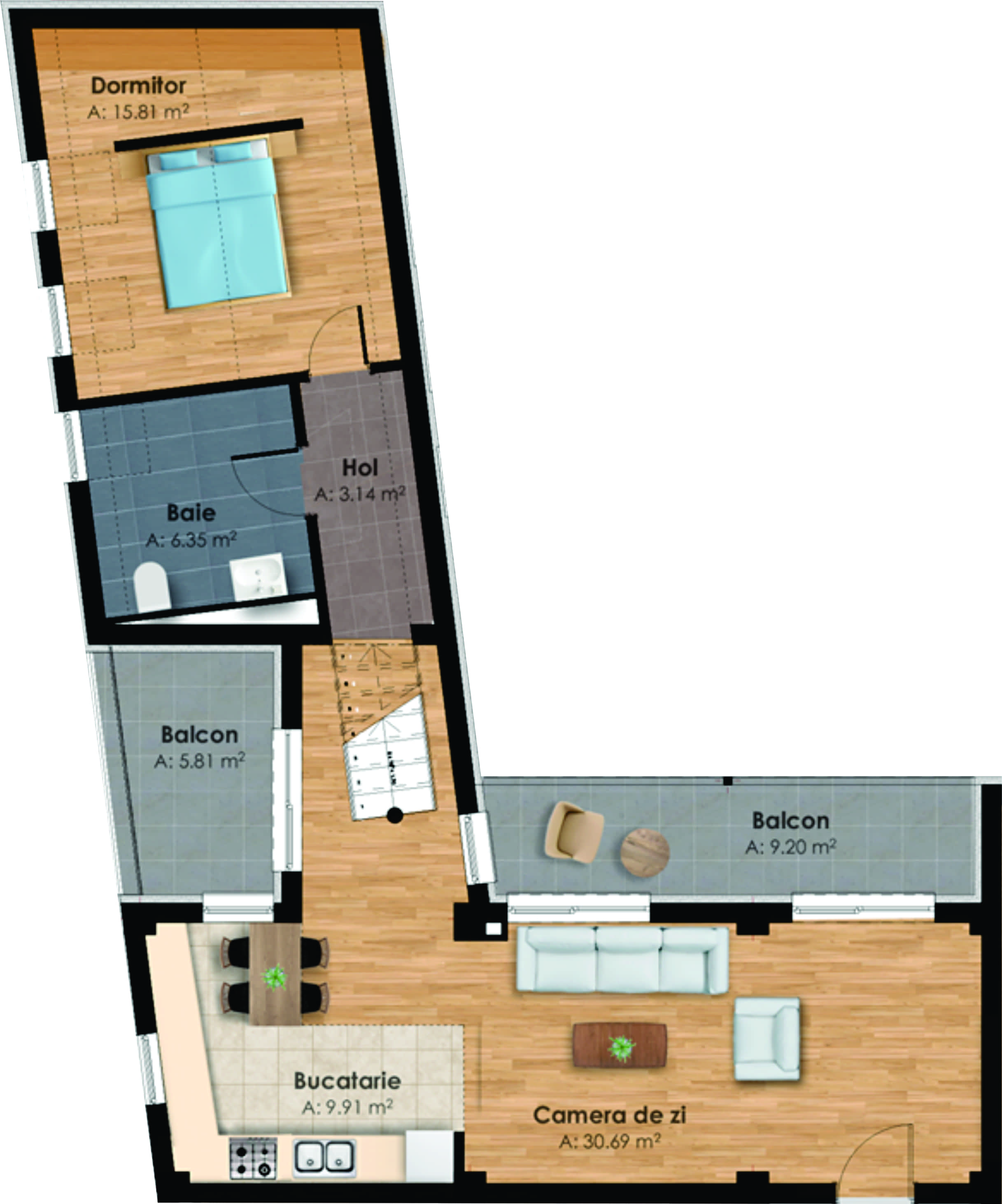183783-Vanzare apartament in bloc nou, 2 camere, Zona Garii, Cluj-Napoca