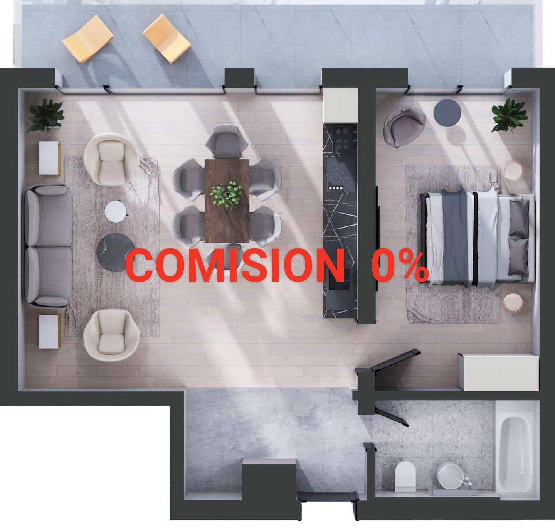 178225-Vanzare apartament 2 camere, Bloc nou, Zona Centrala,  Cluj-Napoca