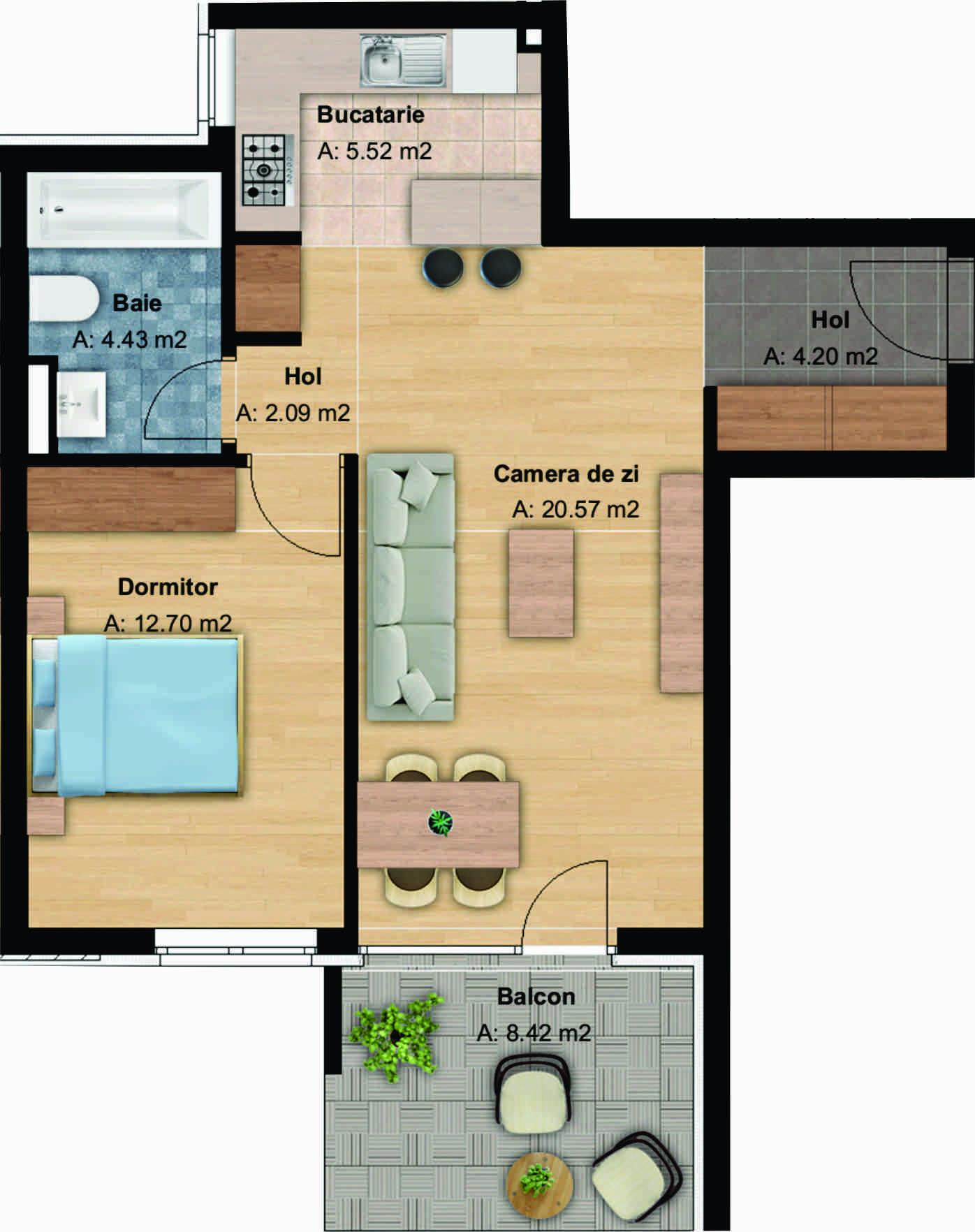183936-Vanzare Apartament 2 Camere, Buna Ziua, Cluj-Napoca